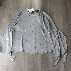 Topshop Butterfly Blouse